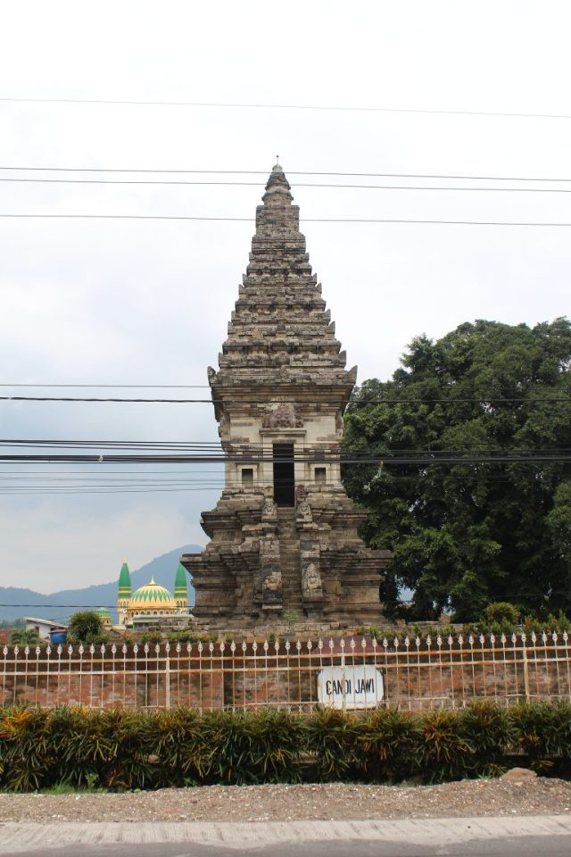 Candi Jawi (1292) in front of Mt. Penanggungan