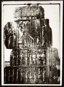 View of Relief Picturing Enthroned King Giving Audience, as well as Registers Picturing Persian and Median Guards