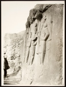 Sasanian Rock Reliefs: Side View of Investiture Relief of Ardashir II