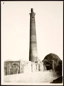 Minaret of Masjid-i Juma (Friday Mosque) reaching into the sky
