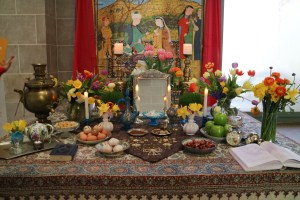 Haft sin table at Nowruz