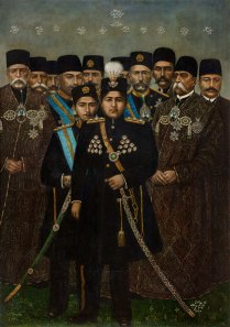 Ahmad Shah (r. 1909–25) and his cabinet
