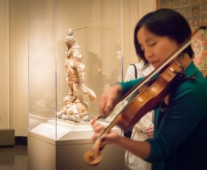 Pop-up performance by members of the Silkroad Ensemble