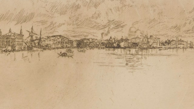 Etching of Venice.