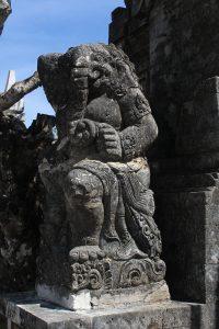 Demonic guardian statue
