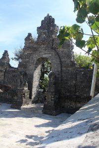 Stone gate backlit