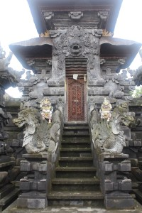 Shrine entrance flanked by serpent sculptures