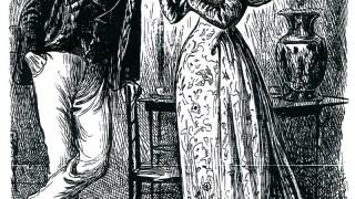 A man and woman intensely regarding a teapot