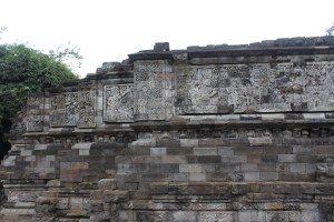 Relief carvings on temple platform