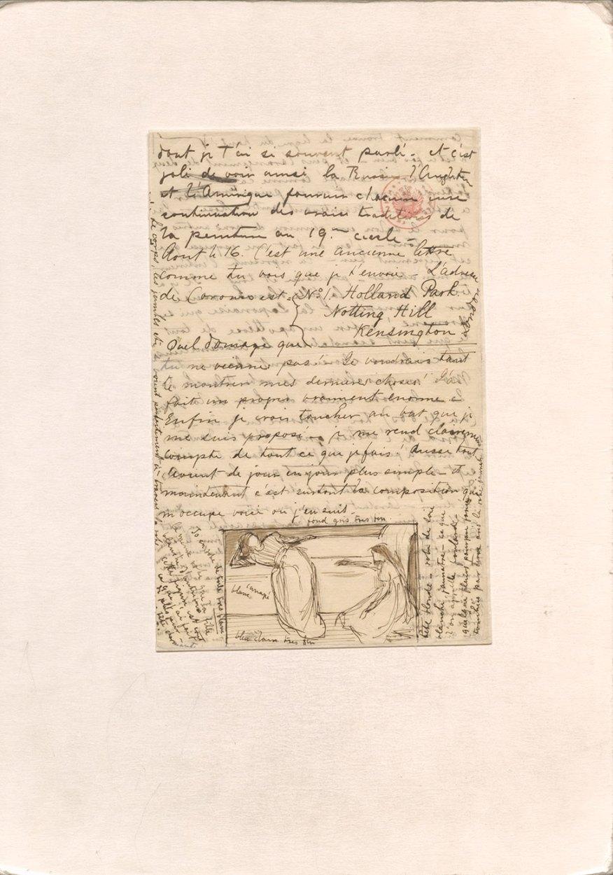 Whistler's letter to Fantin (transcription below)