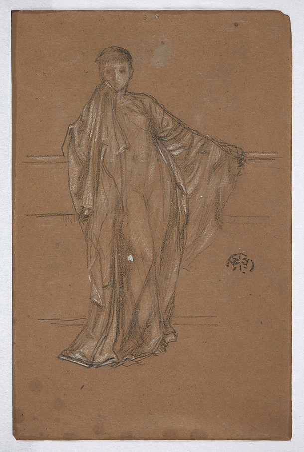 Draped Figure at a Railing