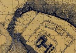 brown gridded map