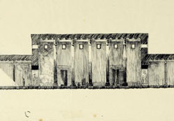 sketch of a rectangular building
