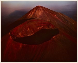 A color image of a red heavy mountain