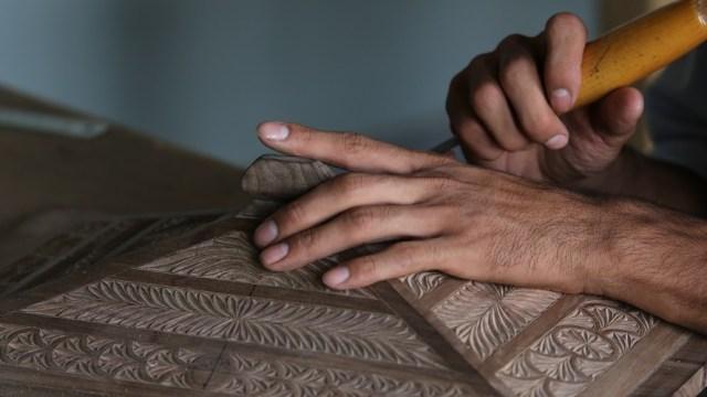 Woodworking hands