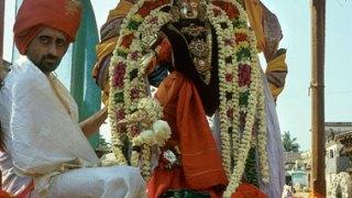 Shiva Nataraja in procession.