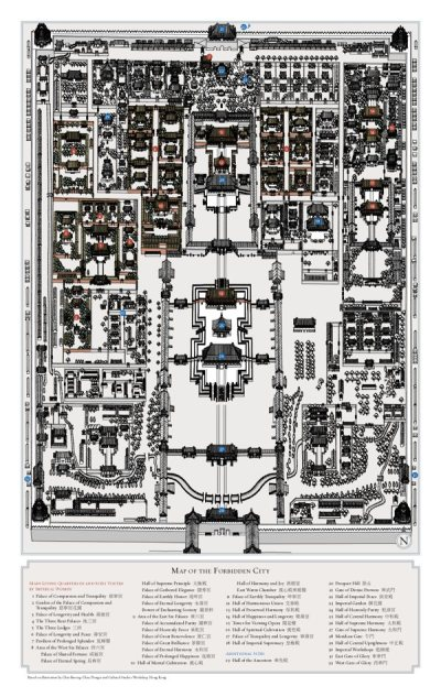 map of the Forbidden City