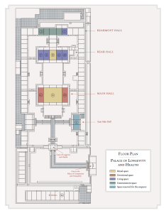 floor plan of the Palace of Longevity and Health