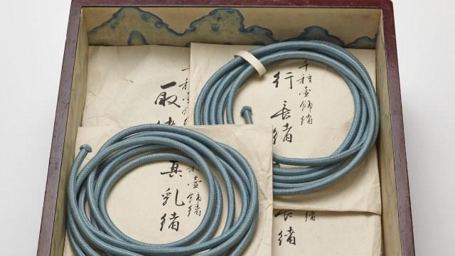 Chigusa's cords in a storage box.