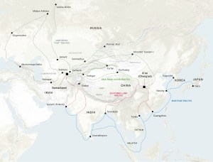 Sogdian Trade Route Map