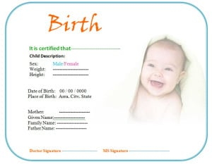 Birth certificate template formats examples in word excel download birth certificate template yadclub Image collections