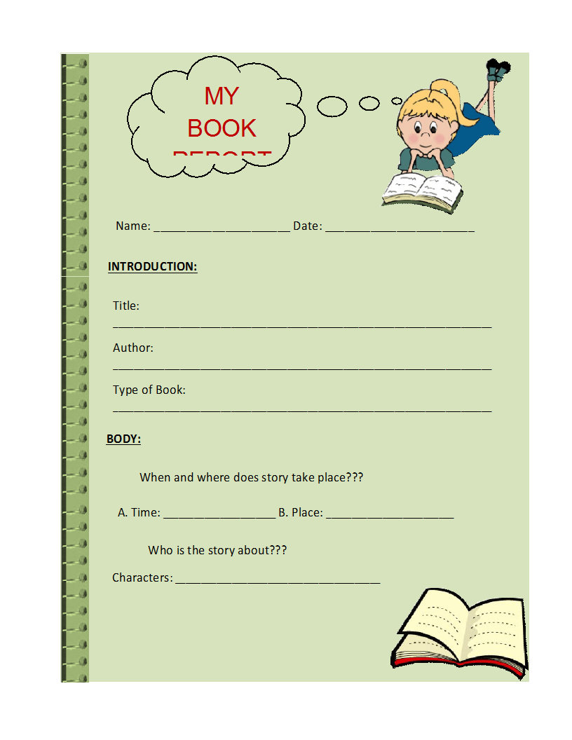 Free Book Report Templates formats Examples in Word Excel