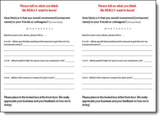restaurant customer satisfaction survey template - 5 restaurant comment card templates formats examples in