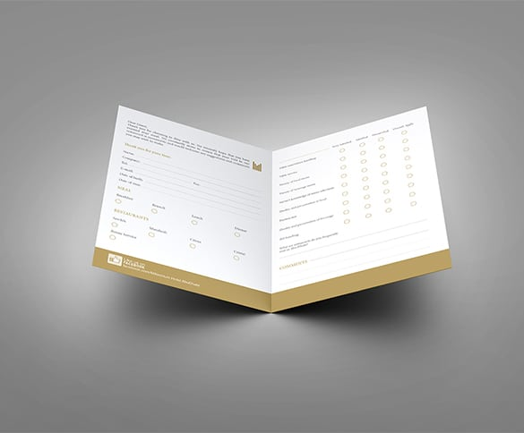 Restaurant Comment Card Templates  Formats Examples In Word Excel