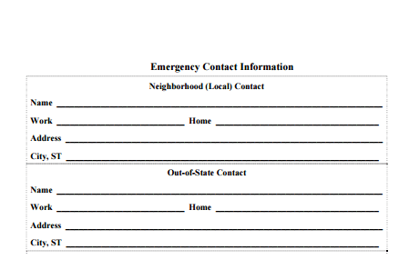 Exceptional Contact Information Form Template Pertaining To Contact Information Template