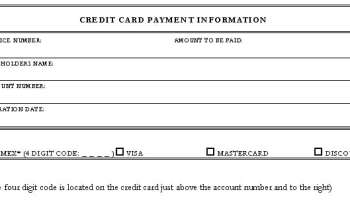 Credit Card Form Templates Formats Examples In Word Excel - Credit card authorization form template word