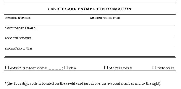 5 Credit Card Authorization Form Templates  Payment Form Template