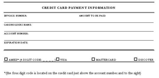 Credit Card Authorization Form Templates  Formats Examples In