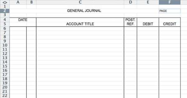 5 General Journal Templates - formats, Examples in Word Excel