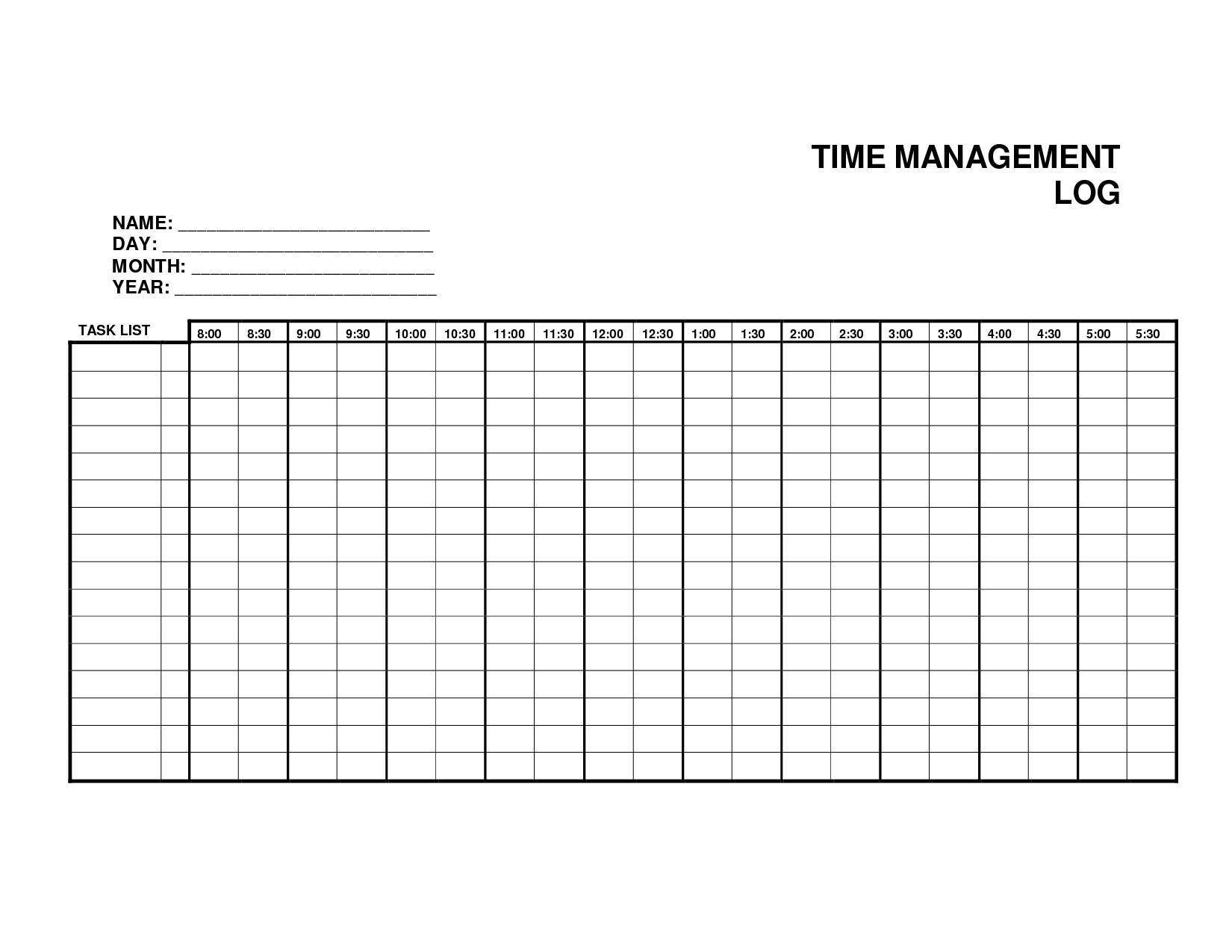 5 Log Sheet Templates