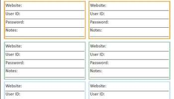 password list template excel