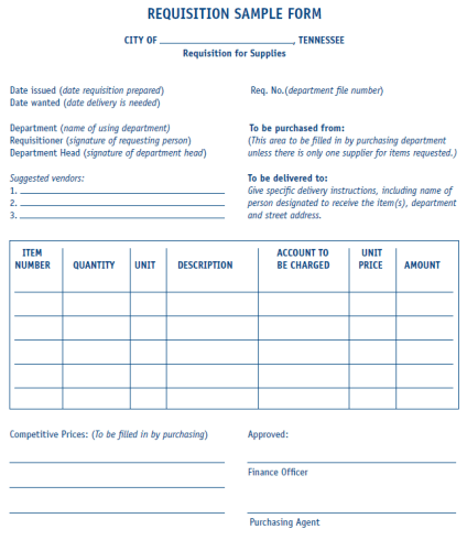 6 Requisition Form Templates Free Sample Templates