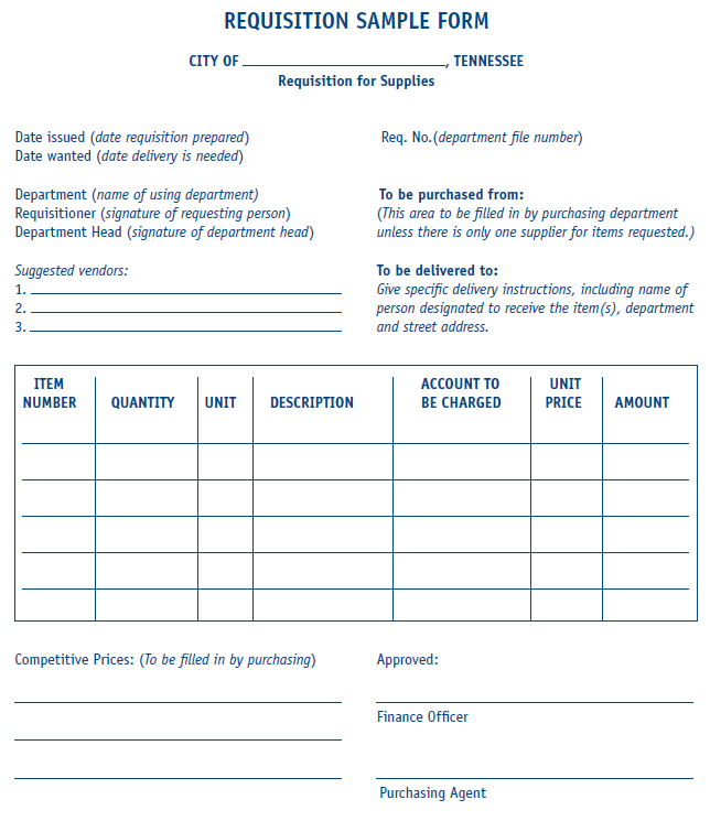 Amazing Requisition Form Sample Template