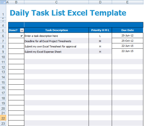 5 task list templates formats examples in word excel task list template 1542 pronofoot35fo Image collections