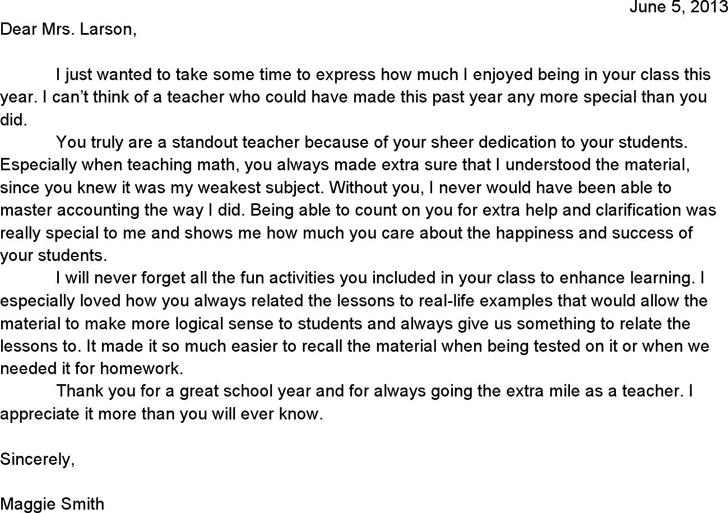 5 Appreciation Letter Templates