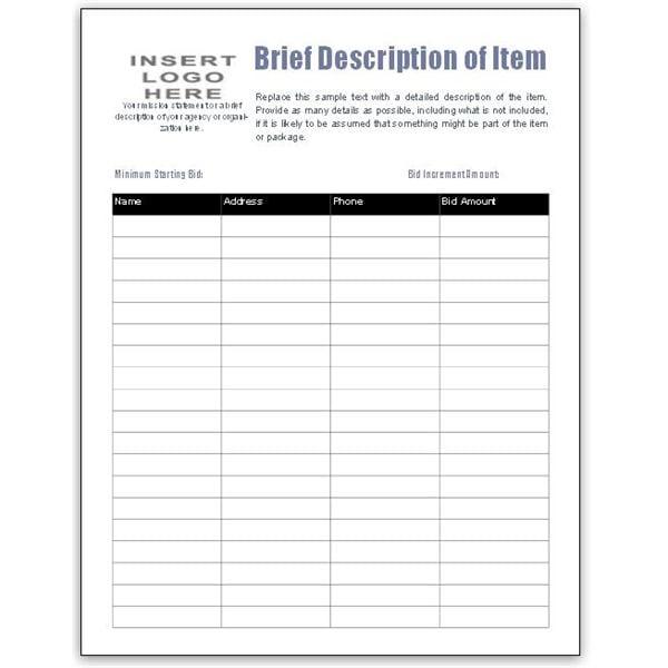 auction sheets