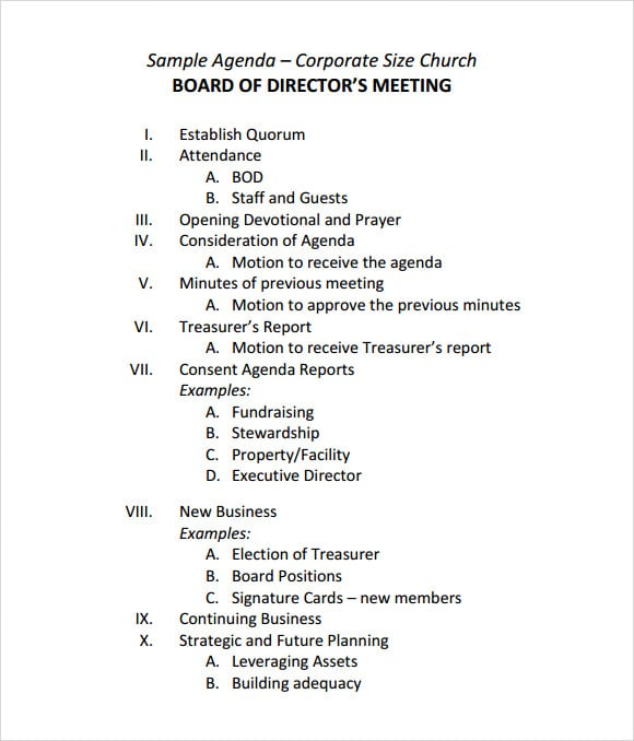 Board Agenda Templates Are Added Here