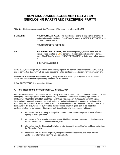 5 Contract Agreement Between Two Parties Samples  Business Contract Between Two Parties