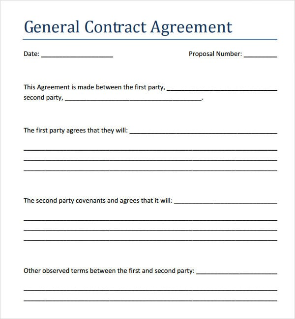 Contract Sample Between Two Parties. Parties 25 Professional
