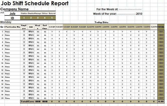 15 Shift Report Template Pay Stub