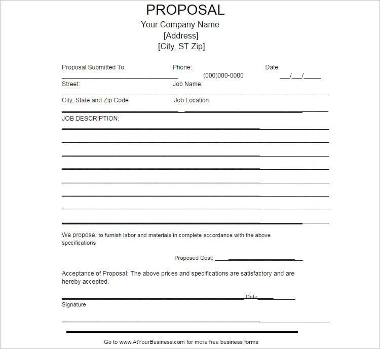 4 Job Proposal Examples