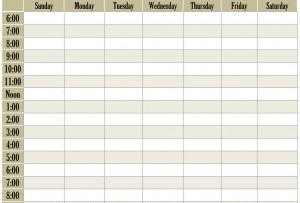 Design free Weekly schedule online Archives - Schedule Templates