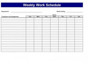 Schedule Template Download