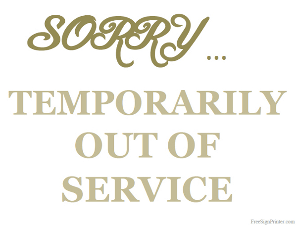 Image result for picture of out of service