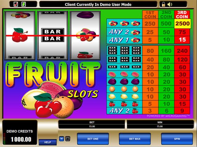 Fruit Slots Canada