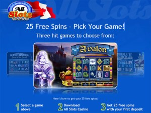 All Slots Casino 25 Free Spins
